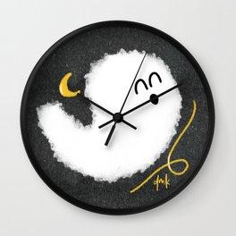 Happy Little Ghost III Wall Clock