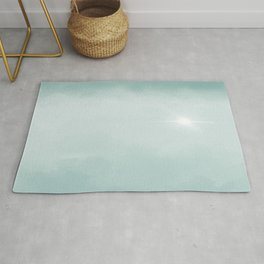 Hope Above the Clouds 7 Teal Blue - Abstract Art Series Rug