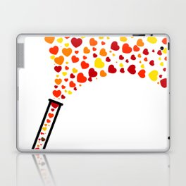 Chic Preppy Chic Test Tube Hearts Laptop & iPad Skin