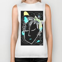 bow Biker Tanks featuring Bow by transFIGure