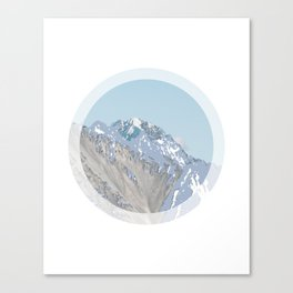abstract circle mountains Canvas Print