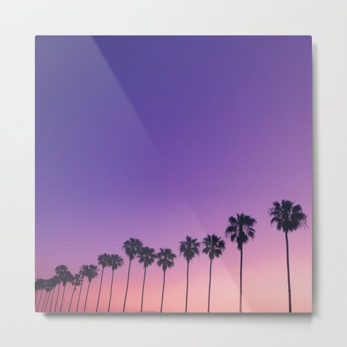 Palm Sunset Metal Print