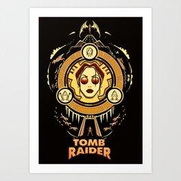 Tomb Raider I - Wheel of Adventure Art Print