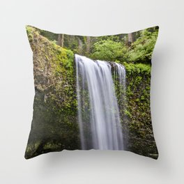 South Falls, Silver Falls State Park  6-23-19 Throw Pillow