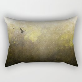 Golden Space Flight Rectangular Pillow