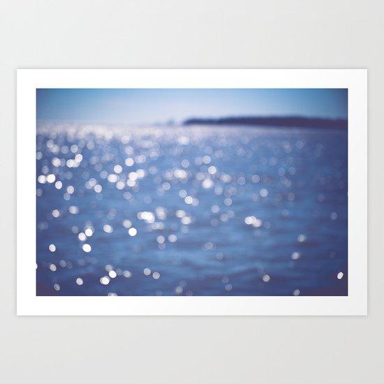 Indigo Sea Art Print