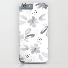 black watercolors Slim Case iPhone 6s