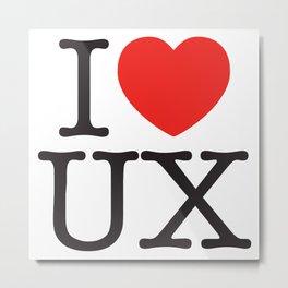 I heart UX Metal Print