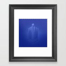 Tardis Logo Framed Art Print