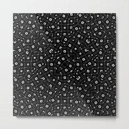 Black and White Intricate Geometric Print Metal Print