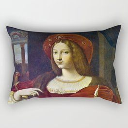 Joanna of Aragon by Raphael Rectangular Pillow