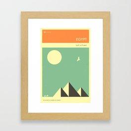 VISIT EGYPT Framed Art Print