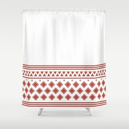 Vintage Mexican Pattern Shower Curtain