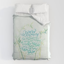 Be Strong and Courageous - Joshua 1:9 - bamboo Duvet Cover