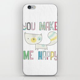 make me happy iPhone Skin