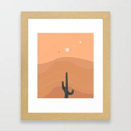Sinuous Heat Waves & Solitude Framed Art Print