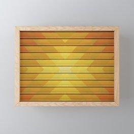 Fall Geometric Pattern Framed Mini Art Print