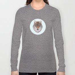 Grey wolf portrait Long Sleeve T-shirt