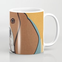 Icons of the Dog Park: Beagle Design in Bold Colors for Pet Lovers Coffee Mug