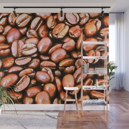 roasted coffee beans texture acrsat Wall Mural