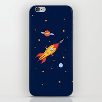 spaceship iPhone & iPod Skins featuring Spaceship! by Doodle Dojo