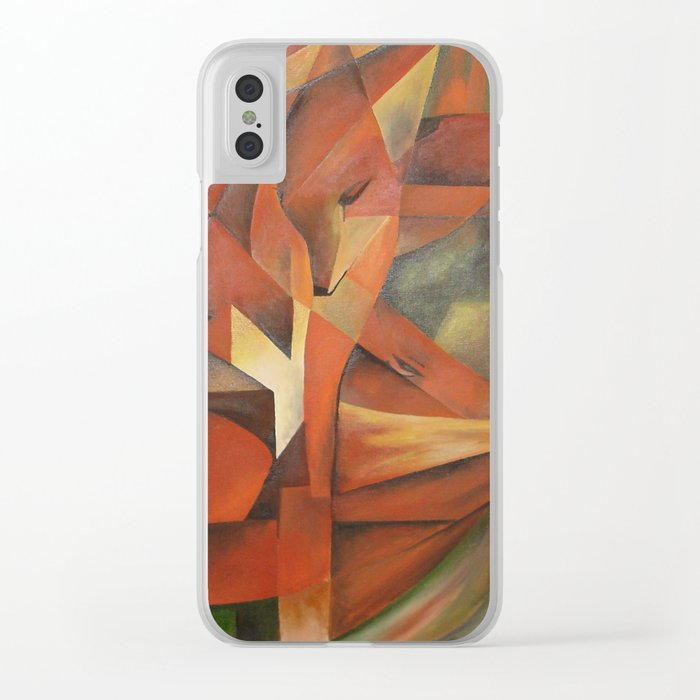 Foxes - Homage to Franz Marc (1913) Clear iPhone Case