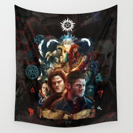 Family Don't End with Blood Wall Tapestry