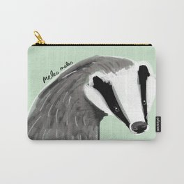 Adorable Badger ( Meles meles ) Carry-All Pouch