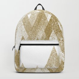 gold mountains with snow Backpack