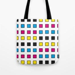CMYK square pattern Tote Bag