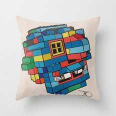 Blue Ghoul Throw Pillow