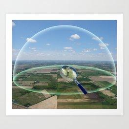 Scale of the Atom Art Print