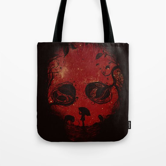 Red Encounter Tote Bag