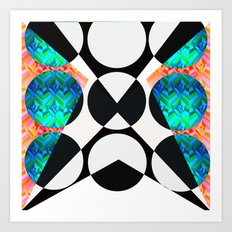 pop pattern Art Print