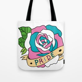 Trans Pride Rose Tote Bag