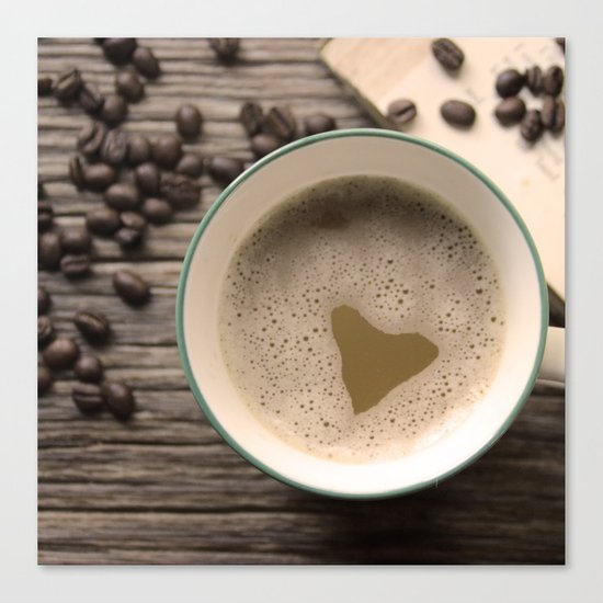 I heart Coffee Canvas Print