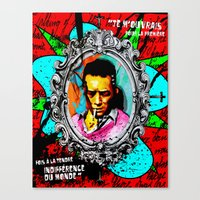 camus Canvas Prints featuring Camus by Alec Goss