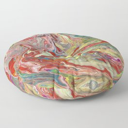 Abstract Oil Painting 4 Floor Pillow