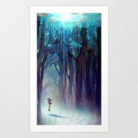 loish Art Prints featuring AquaForest by loish