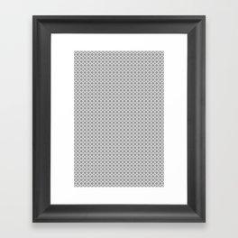Quatrefoil Grey Framed Art Print