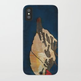 Finch on Blue iPhone Case