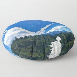 Scenic Mountain Floor Pillow