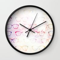 glasses Wall Clocks featuring Glasses by C Designz