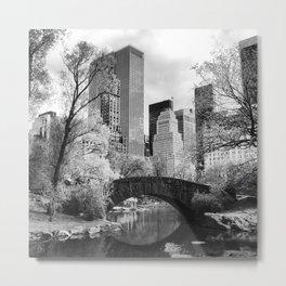 Central Park Bridge. Metal Print