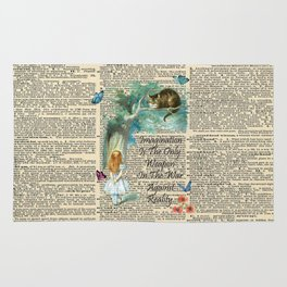 Alice In Wonderland Quote - Imagination - Dictionary Page Rug