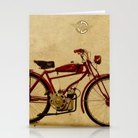 ducati Stationery Cards featuring Ducati 1950 - Classic bike by Larsson Stevensem