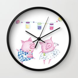 Pork chop love Wall Clock