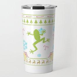Custom Christmas Sweater Shirt Pet Frog Shirt Amphibians Travel Mug