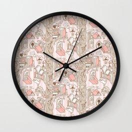 Books: Through the rabbit hole_Pink Cake Wall Clock