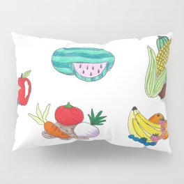 Fruits and Veggies Pillow Sham